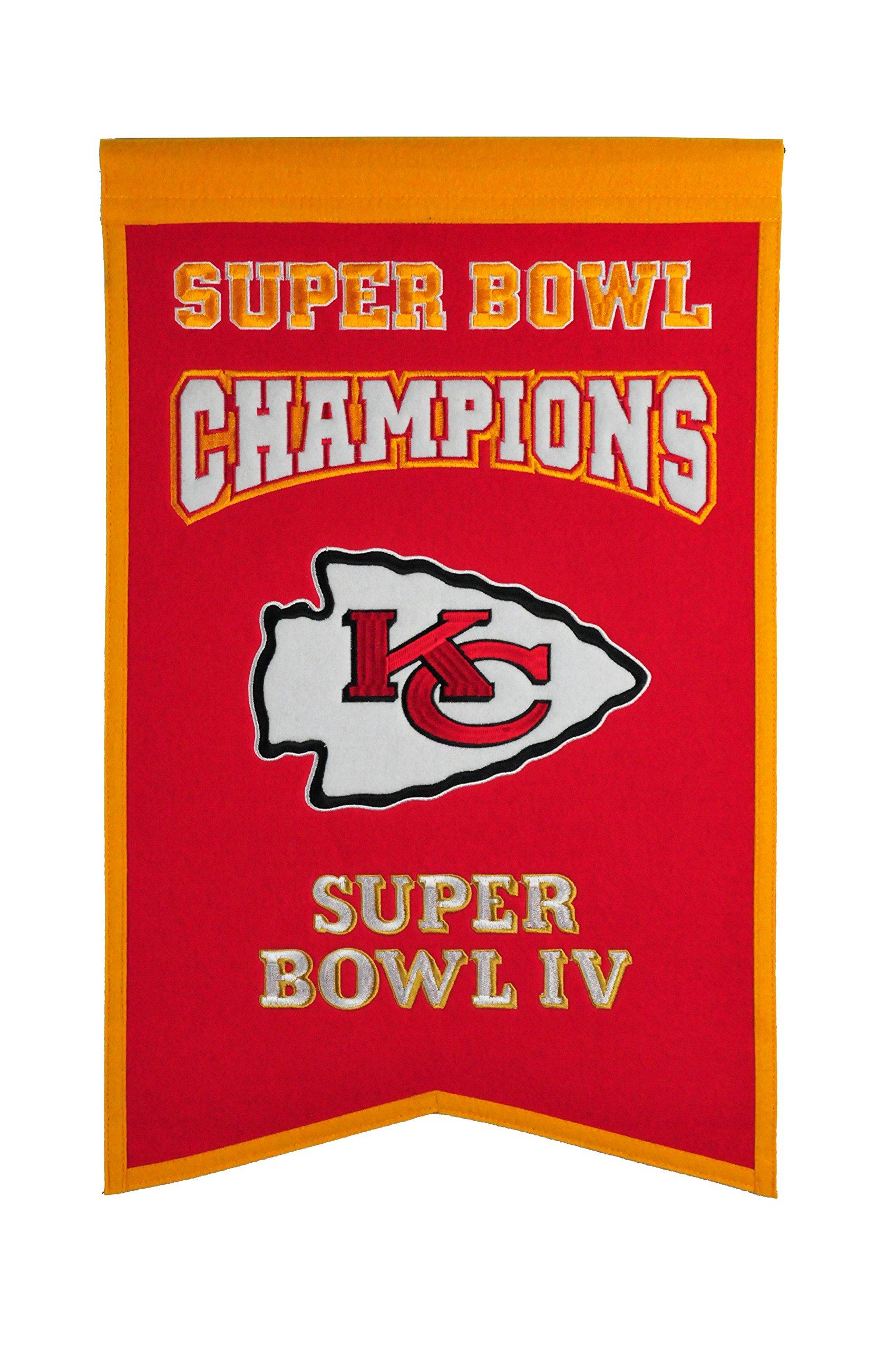 NFL Kansas City Chiefs Super Bowl Champions Banner by Winning Streak