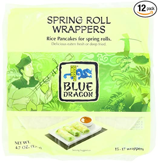 Blue Dragon Wrappers Spring Roll 4 7 Ounce Pack Of 12 Amazon