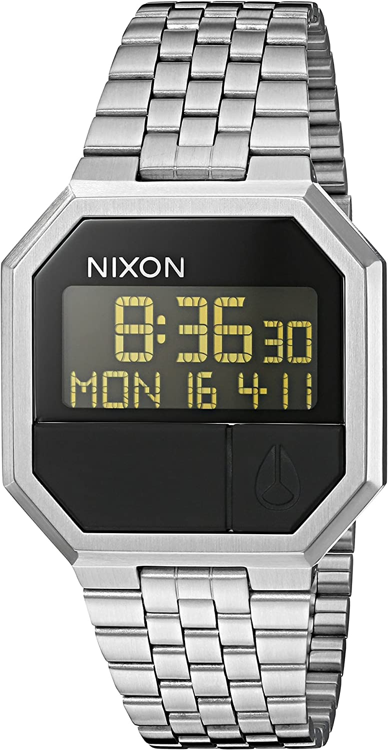 Nixon Re-Run A158. 100m Water Resistant Men s Digital Watch 38.5mm Digital Watch Face. 13-18mm Stainless Steel Band