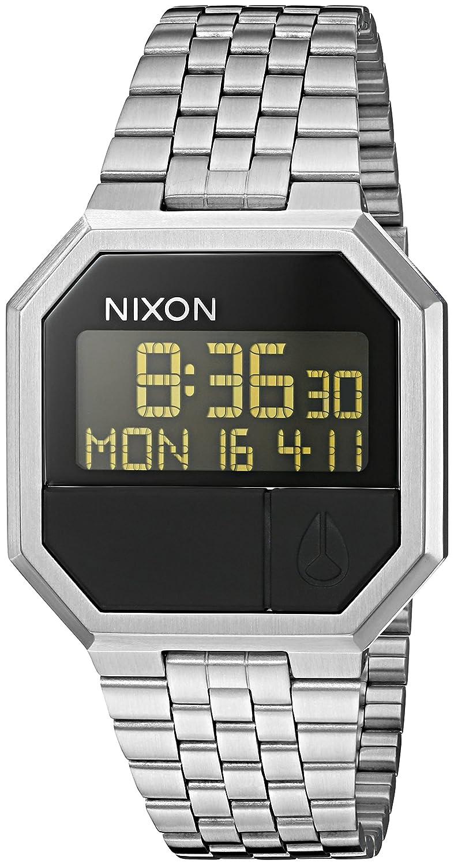 82b6bb5c57811 Nixon Re-Run Men s 80s Style Digital Watch (38.5mm. Stainless Steel Band)