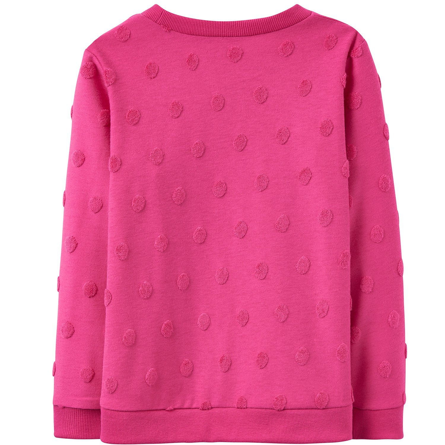 Joules Girls Sweetie Textured Sweatshirt. Colour Pink X_YNGSWEETIE