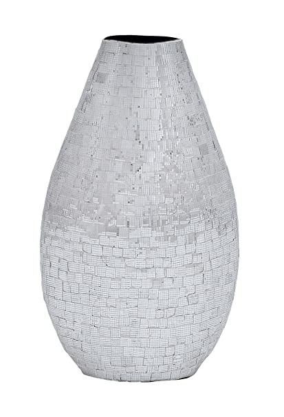 Tall Plutus Brands Ceramic Vase with Appealing Shape and Pattern
