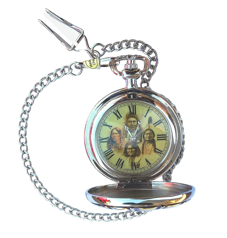 Heartland GreatDeals Native American Indian Pocket Watch Chain