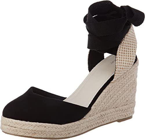 Pimkie Sandales Compensées Noires En Paille Femme Taille 40 Amazon Fr Chaussures Et Sacs