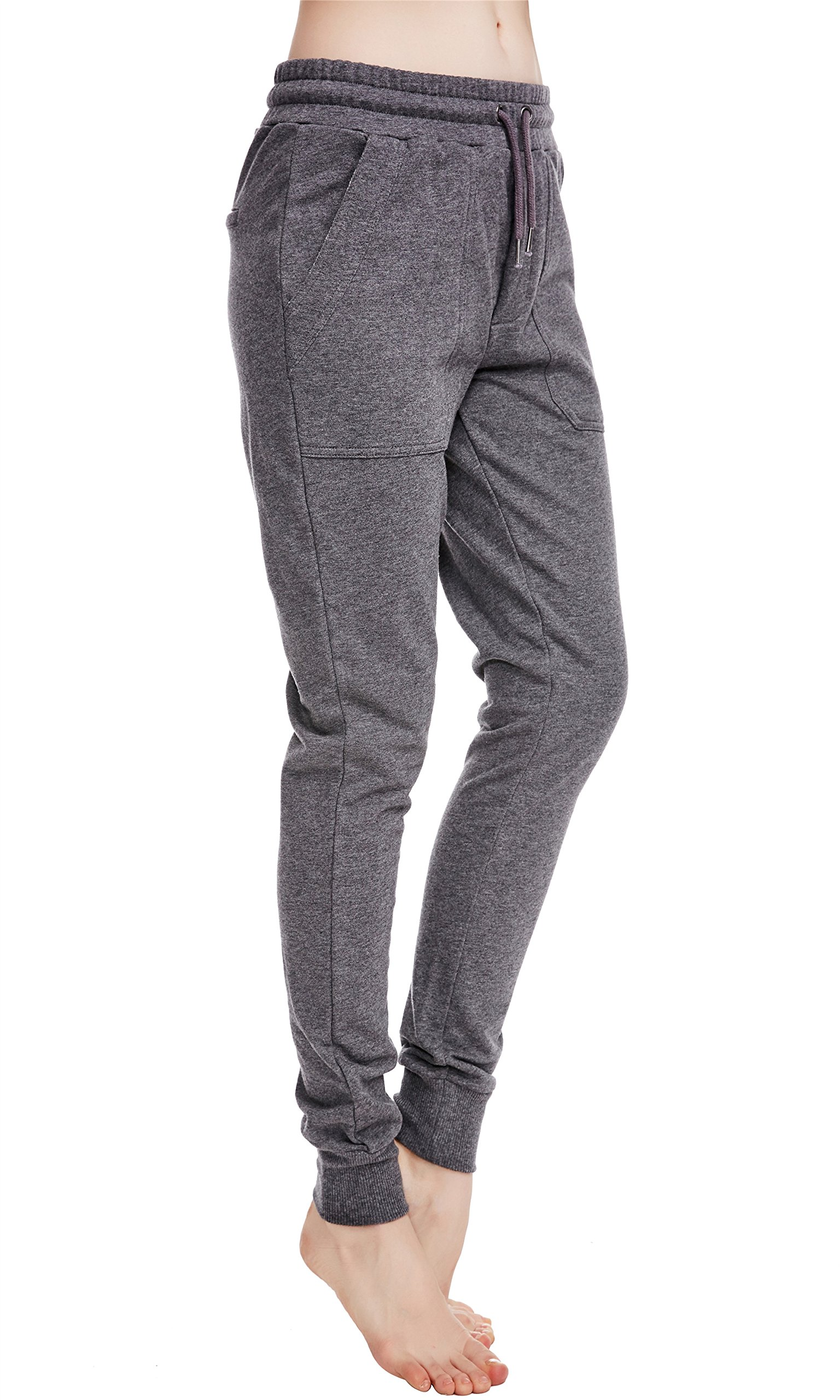 icyzone Women Sweatpants Joggers Activewear Workout Running Pants With Pockets (S, Athletic Grey)
