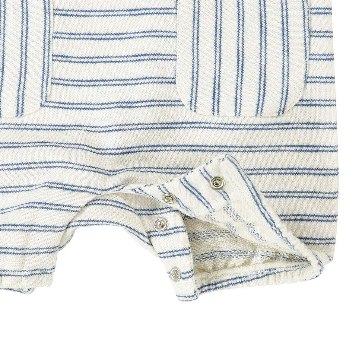 1 Month-2 Years La Redoute Uniross Striped Short Dungarees
