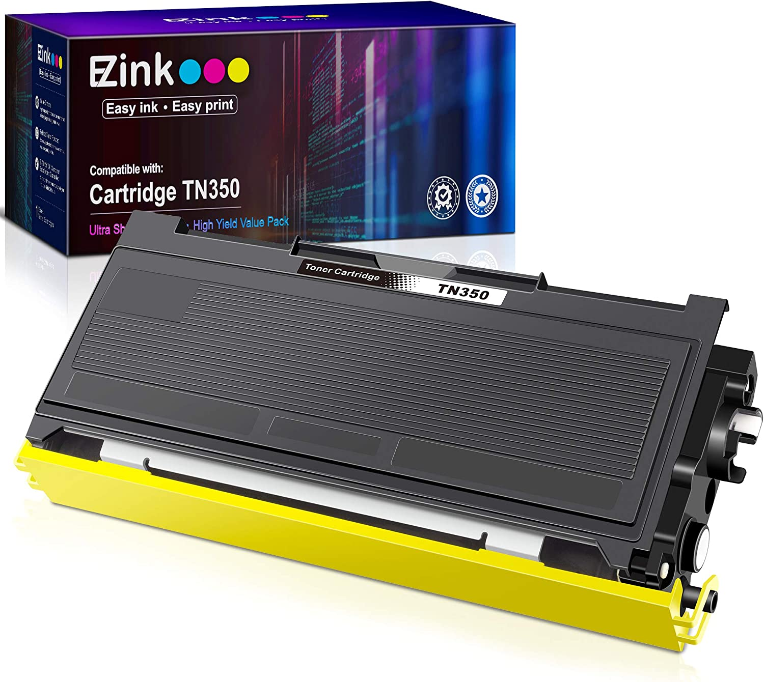 E-Z Ink (TM) Compatible Toner Cartridge Replacement for Brother TN350 TN-350 TN 350 to Use with Intellifax 2820 Intellifax 2920 HL-2070N HL-2040 DCP-7020 MFC-7820n (Black, 1Pack)