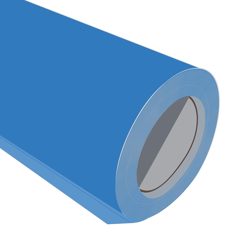 3 Metre (3 (3 (3 m), acabado satinado, color azul 500 mm de ancho Flex caliente hierro en la ropa la ropa vinilo 157c0e