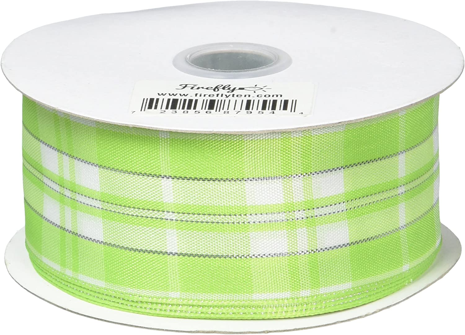 10 Yards Royal Blue 1-1//2-Inch 1.5 Homeford Firefly Imports Plaid Checkered Wired Christmas Ribbon