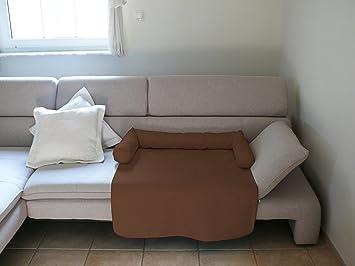 Artur Soja Mila Perros Cama sofá alkantara - XL 150 x 110 cm Marrón Oscuro Sillón Protección sofá sofá Pro Tect: Amazon.es: Productos para mascotas