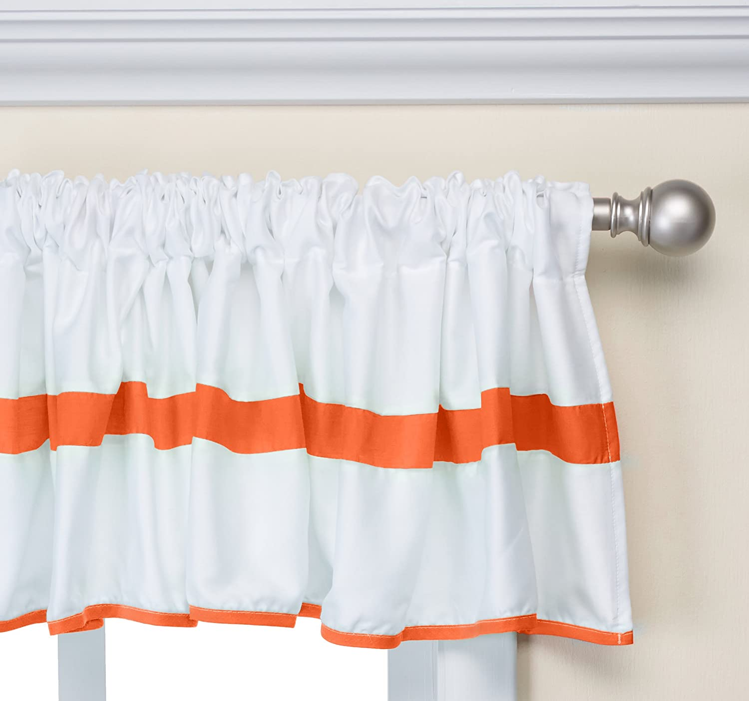 Baby Doll Bedding Modern Hotel Style Window Valance, Orange 1250val