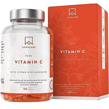 Vitamina C Natural [685 mg] - 180 Cápsulas - Con los flavonoides de la