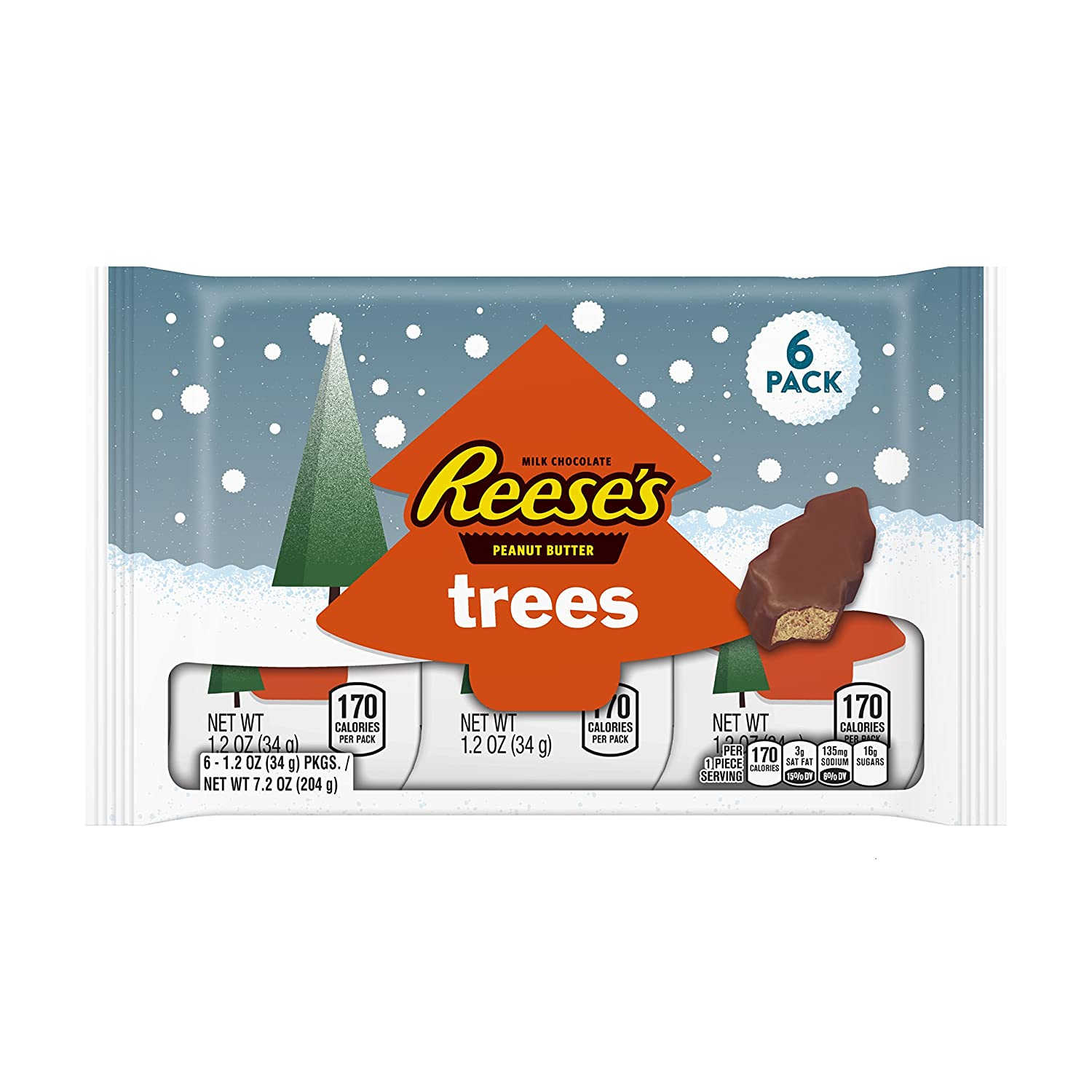 Amazon REESE S Holiday Peanut Butter Trees 6 Count 1 2 Ounce