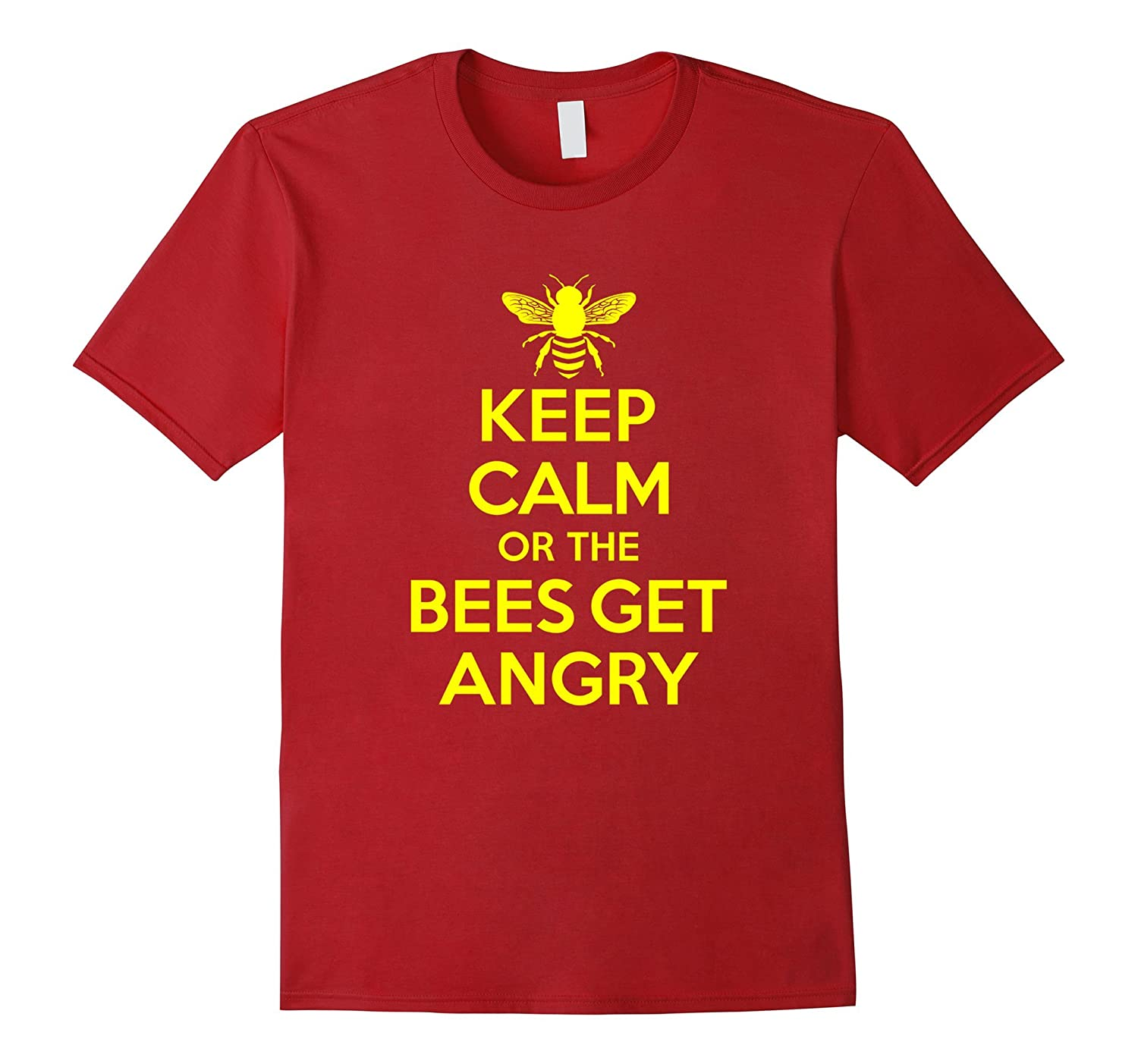 Beekeeper T-Shirt Beekeeping Shirt Keep Calm or the Bees-BN