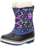 SOREL Girls' Yoot Pac Nylon, Aviation, Foxglove, 6 M US Big Kid