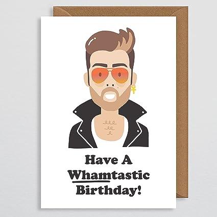 Tarjeta de cumpleaños para novio – Tarjeta de cumpleaños de George Michael – 80 regalos – regalo de cumpleaños – Tarjetas de cumpleaños de celebridad ...