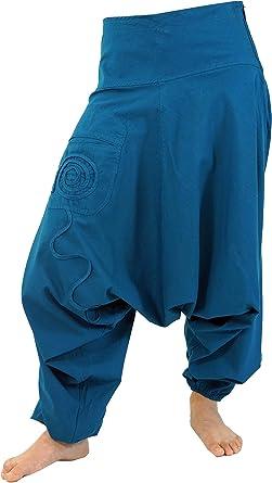 GURU-SHOP, Goa Pluderhose, Pantalón Aladdin, Azul, Algodón, Tamaño:40, Pantalones Pluderhosen y Aladin: Amazon.es: Ropa y accesorios