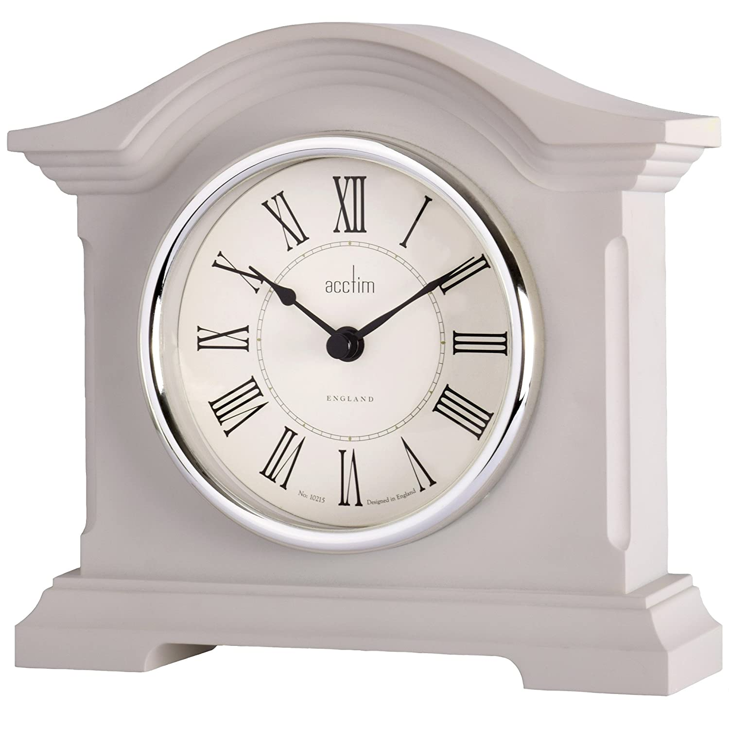 Acctim 33796 Cliffburn Mantel Clock in Taupe