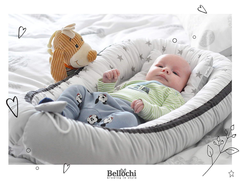 Grils Dream flaches Kissen mit Bez/üge inkl Babynestchen 90x60 cm Kopfkissen /ÖKO-TEX zertifiziert Bellochi 5 tlg Kuscheldecke aus 100/% Baumwolle Baby Kuschelnest-Set