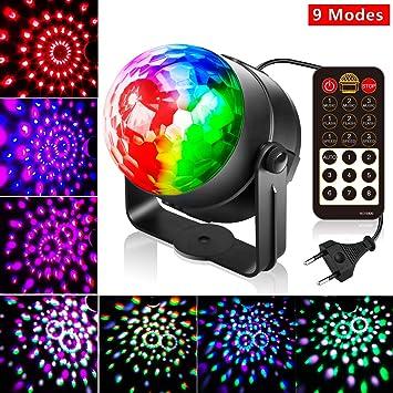 Led Discolicht Discokugel Kinder,10 Modi Led Partylicht Disco Lichteffekte  Partybeleuchtung,Discokugel Led Party Lampe Disco licht Musikgesteuert mit  ...