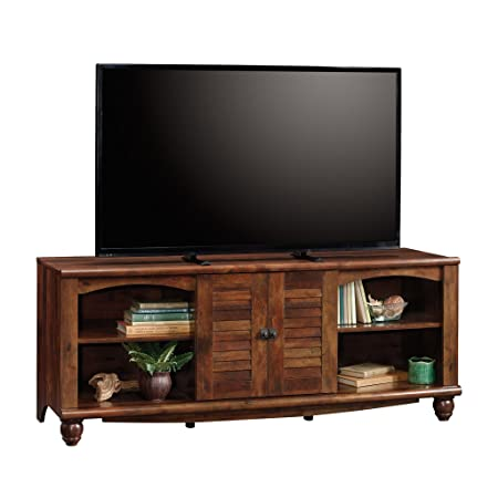 Sauder 420472 Harbor View Entertainment Credenza, For TV s up to 60 , Curado Cherry finish