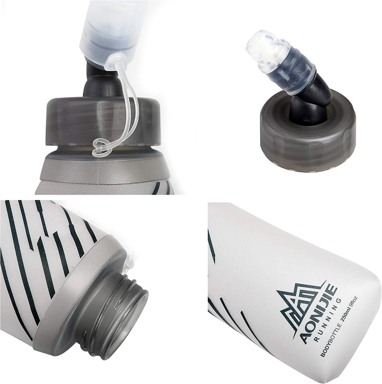 Azarxis Botella de Agua Plegable de TPU sin BPA para Mochila de Hidrataci/ón Senderismo Ciclismo Escalada Deportes al Aire Libre