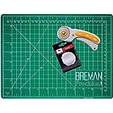 WA Portman Rotary Cutter and 9x12 Inch Self Healing Cutting Mat - Comfort Grip Rotary Cutter and Mat Set - 45mm Rotary…