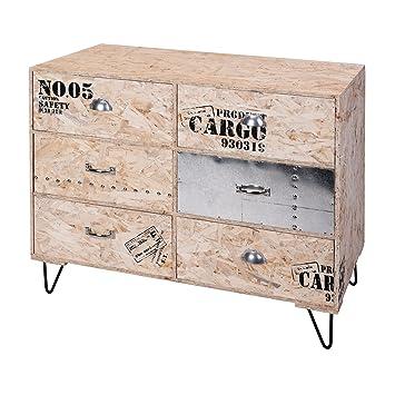 Möbel Aus Osb Platten amazon de schubladenschrank 6fächer osb platten mdf metall 60x75x30