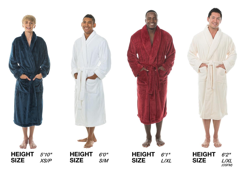 44204e9960 Comfy Robes Personalized Men s Tahoe Microfleece Shawl Collar Bathrobe