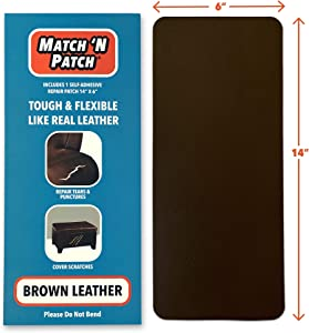 Match 'N Patch Realistic Brown Leather Repair Patch