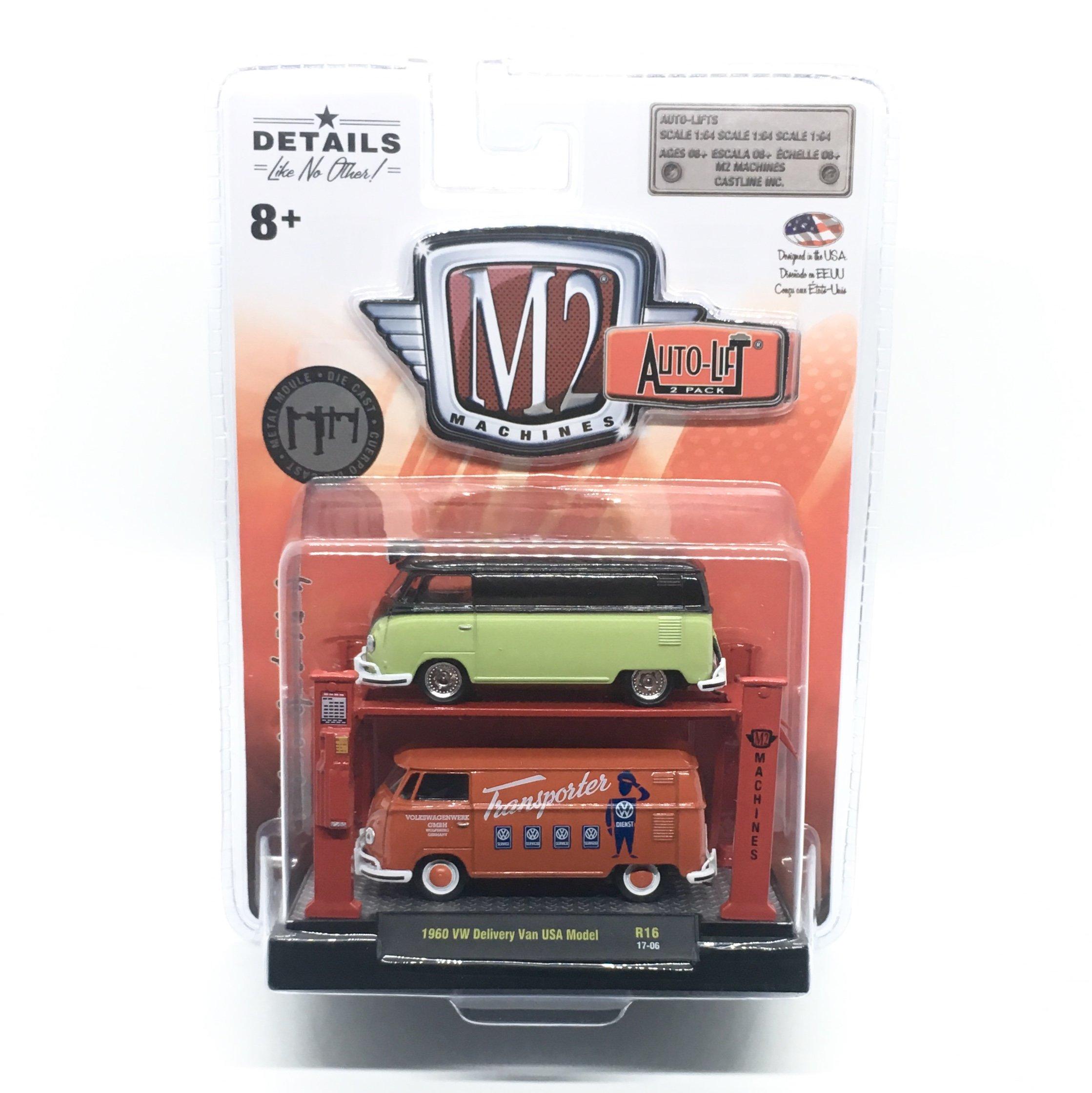 7c0e38c5d9 M2 Machines 1960 VW Delivery Van (Release 16) Auto-Lift 2-Pack