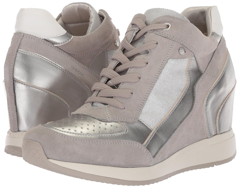 Geox Women's Nydame 6 Sneaker B074H8GRJ9 41 M EU (10.5 US)|Light Grey/Silver
