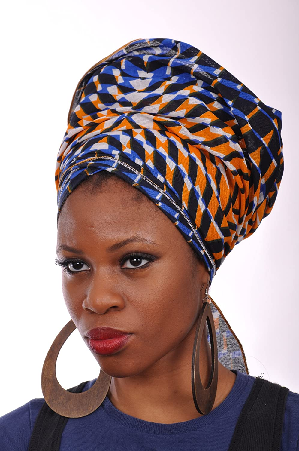 Multicolor African Print Head wrap One Size DP3543H