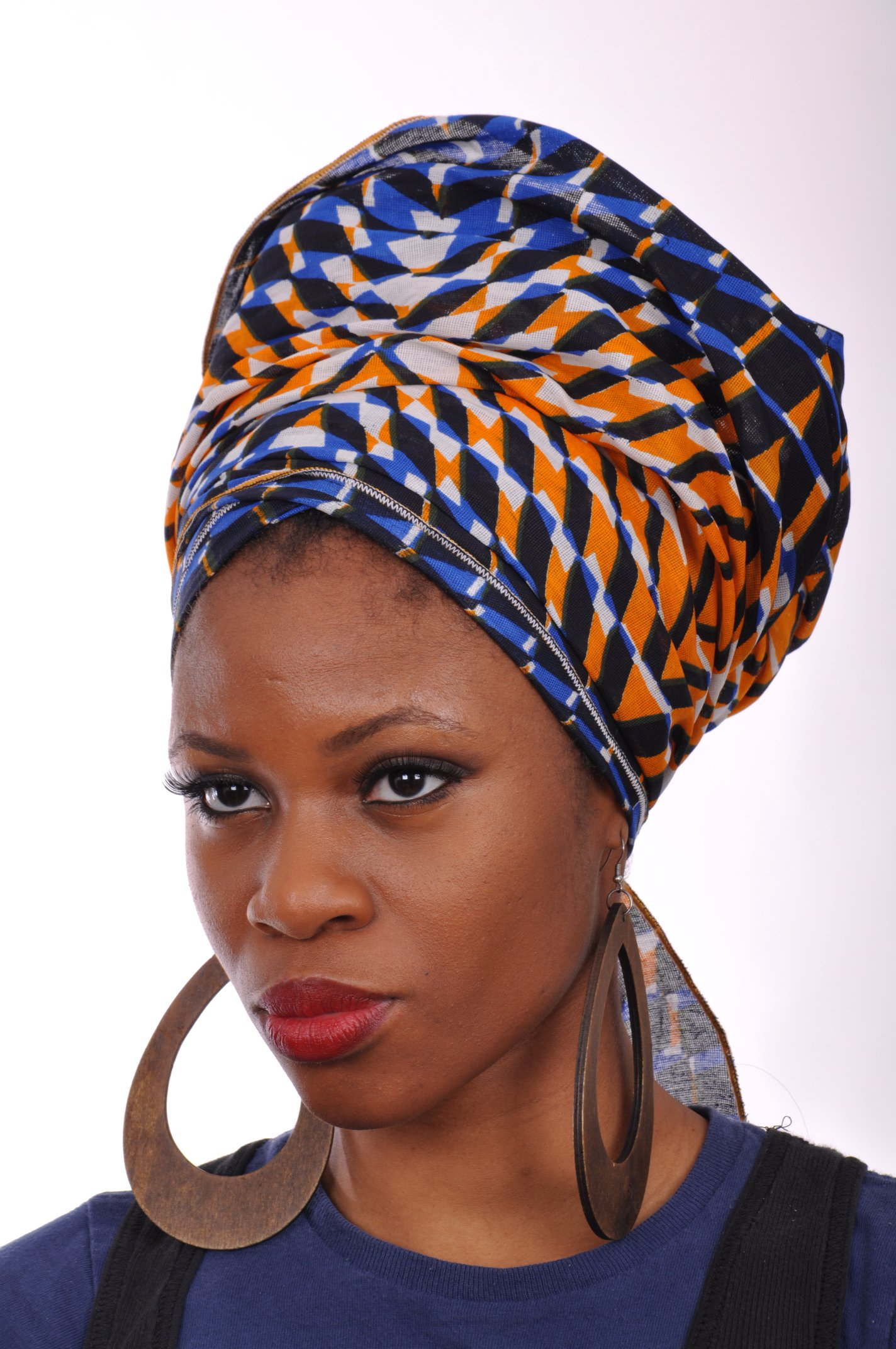 Multicolor African Print Head wrap One Size