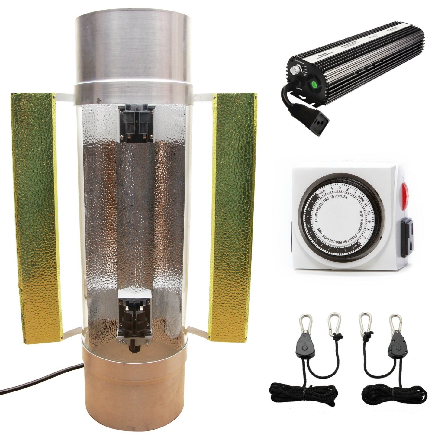 ARCLIGHT Cool Tube 8'' Reflector Kit with Ballast, Rope Ratchet, and Timer (Bulb Included)