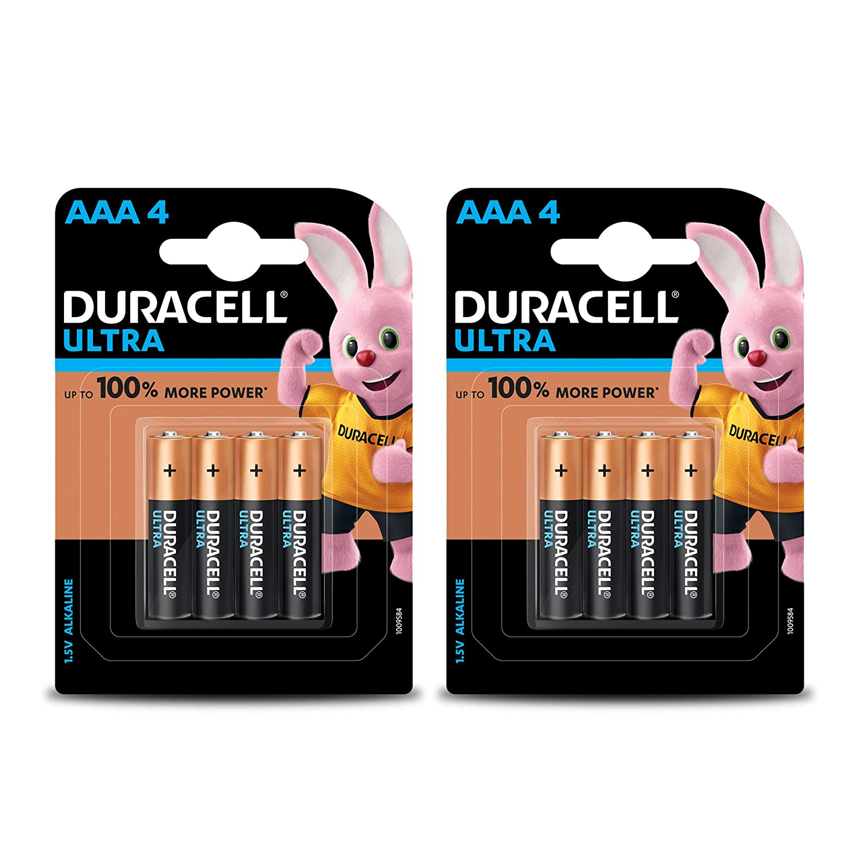 Duracell Ultra Alkaline AAA Battery, 8 Pieces