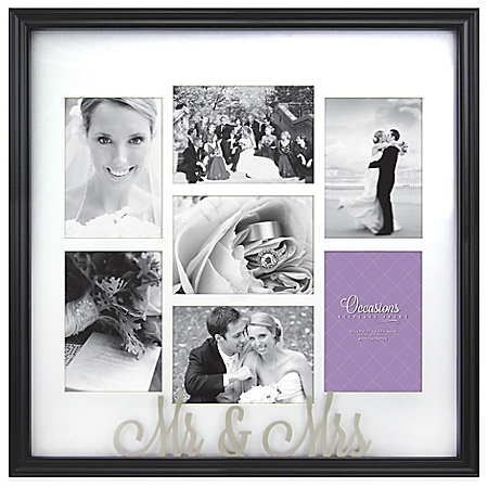 Occasions Mr. and Mrs. 7-Photo Wedding Collage Frame - BedBathandBeyon​d.com