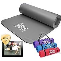 Jung & Durstig Original yogamatta med bärrem | gymnastikmatta inklusive övningar | sportmatta med Ebook Workout…