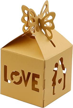 Amazon.com: DriewWedding Gift Boxes, Set of 50 Easy to Assemble Wedding Favors Gift Wrap Boxes for Guests, Snack Food Candy Sweet Spread Gifts Box with ...