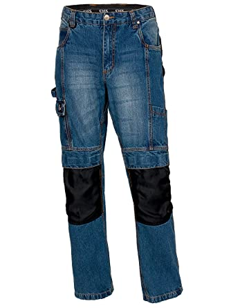 Unbekannt Stabile Herren Jeans Arbeitshose Bundhose Stretch Denim Blau