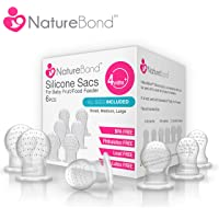 NatureBond Silicone Sac x 6 for Baby Food/Fruit Feeder (All Sizes)