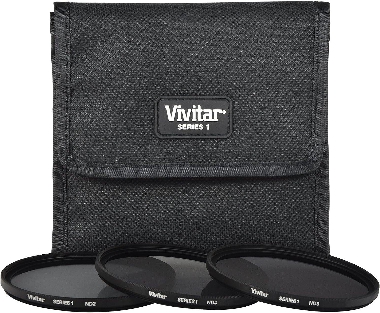 67mm ND2//ND4//ND8 with Case Vivitar 3-Piece Neutral Density Glass Filter Set