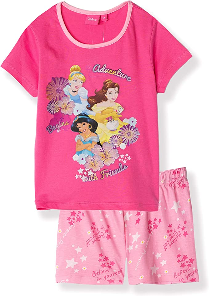 Girl Cinderella Kids Character Disney Princesses Pyjamas Pjs Toddlers Nightwear