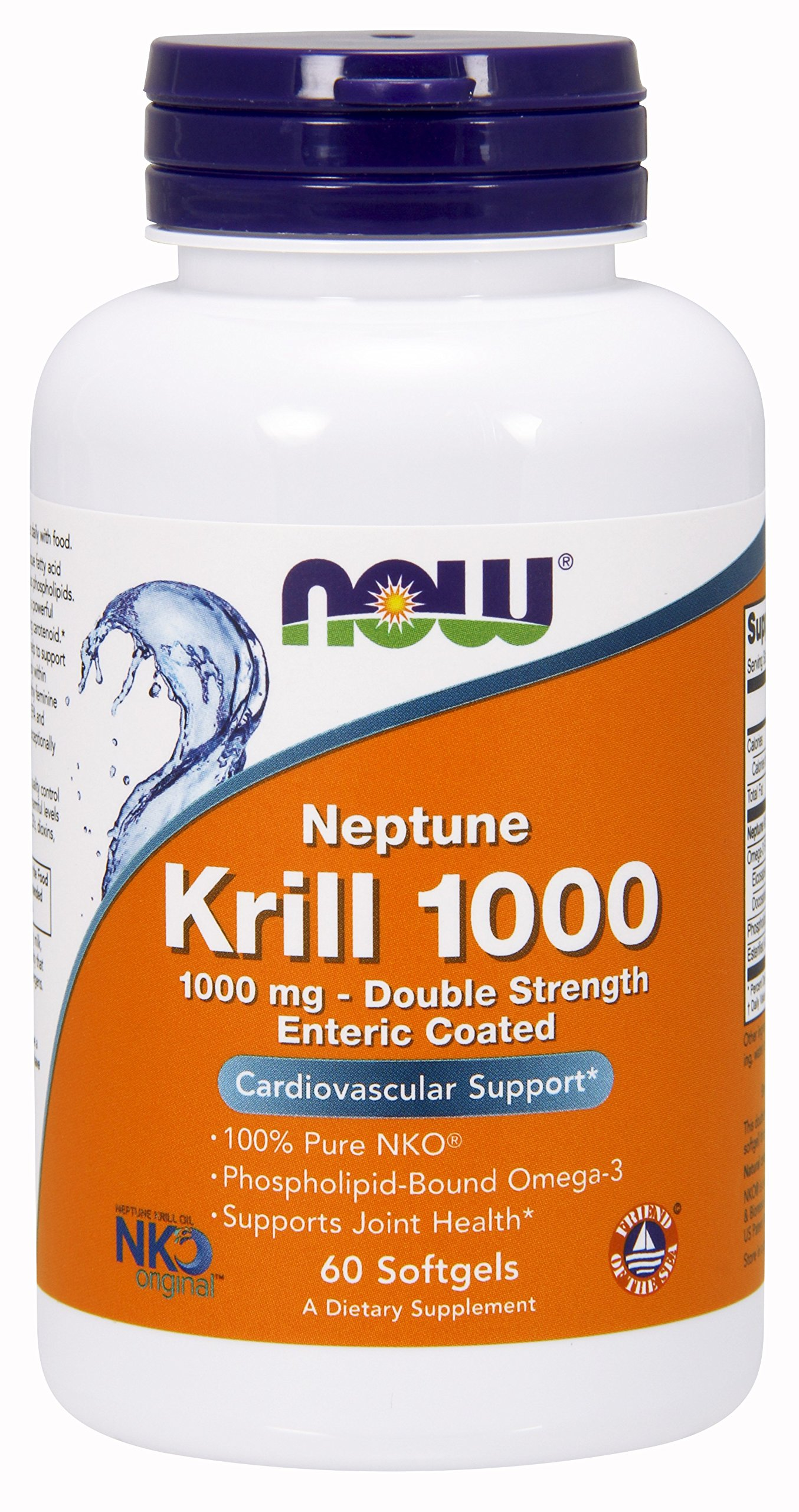 NOW Supplements, Neptune Krill, Double Strength 1000 mg, 60 Softgels