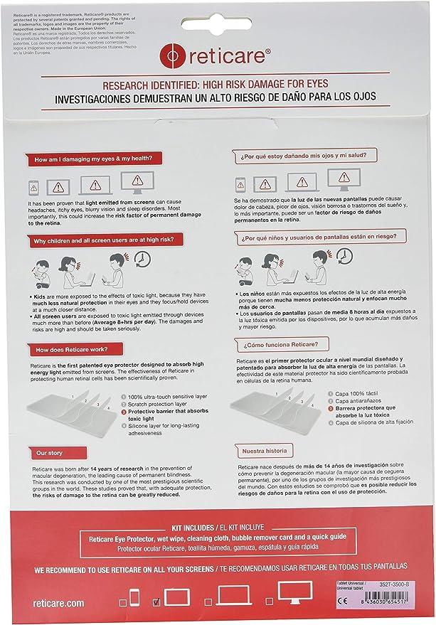 Reticare 352T-3500-B - Protector de ojos para tablets de 18 x 25 ...