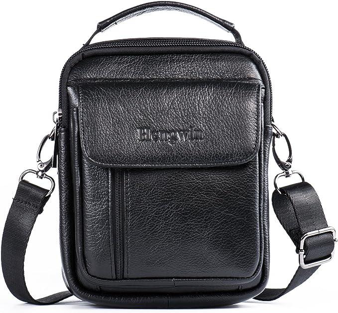 Men/'s Leather Fanny Pack Briefcase Bags Cross body Handbag Shoulder Bag Travel