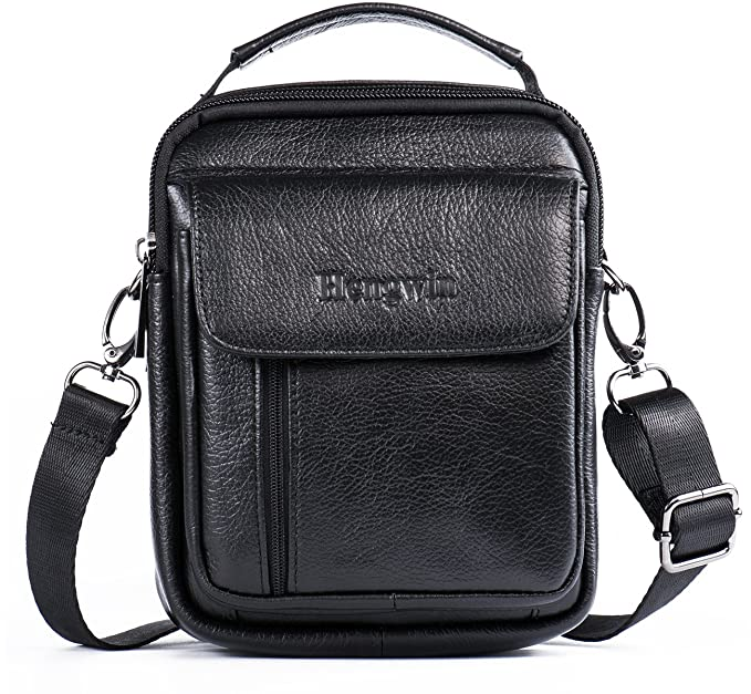3506d9170536 Hwin Holster Case with Belt Loop Leather Men Small Crossbody Travel  Shoulder Bag Belt Pouch Waist