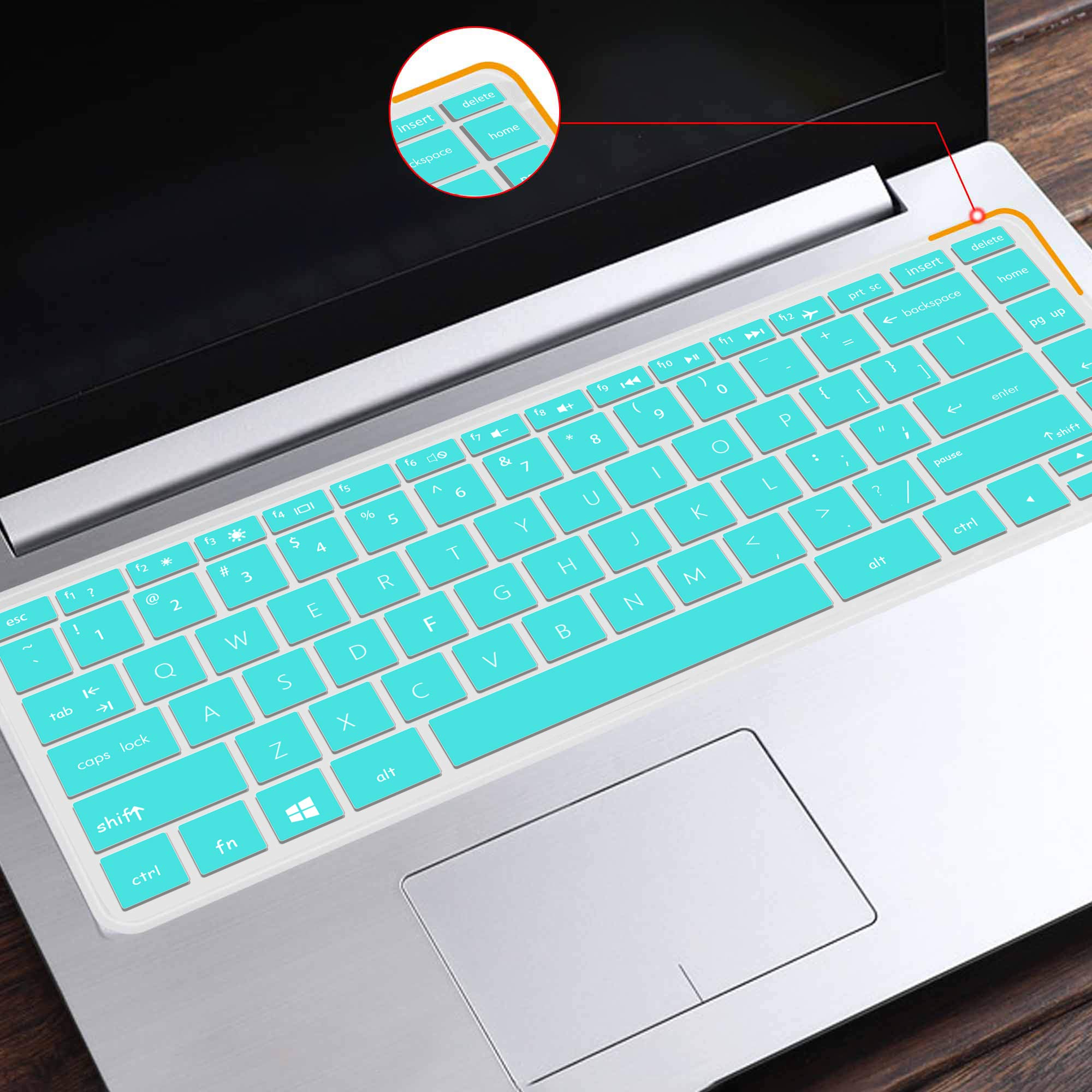 Silicone Laptop Keyboard Skin Cover Compatible for HP 15.6 Inch BF Laptop Keyboard Clear Waterproof Dustproof Protective Film Cover