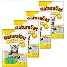 [Amazon限定ブランド]ナチュラキャット 固まる紙製猫砂 ホワイト 6L×4個 (ケース販売)