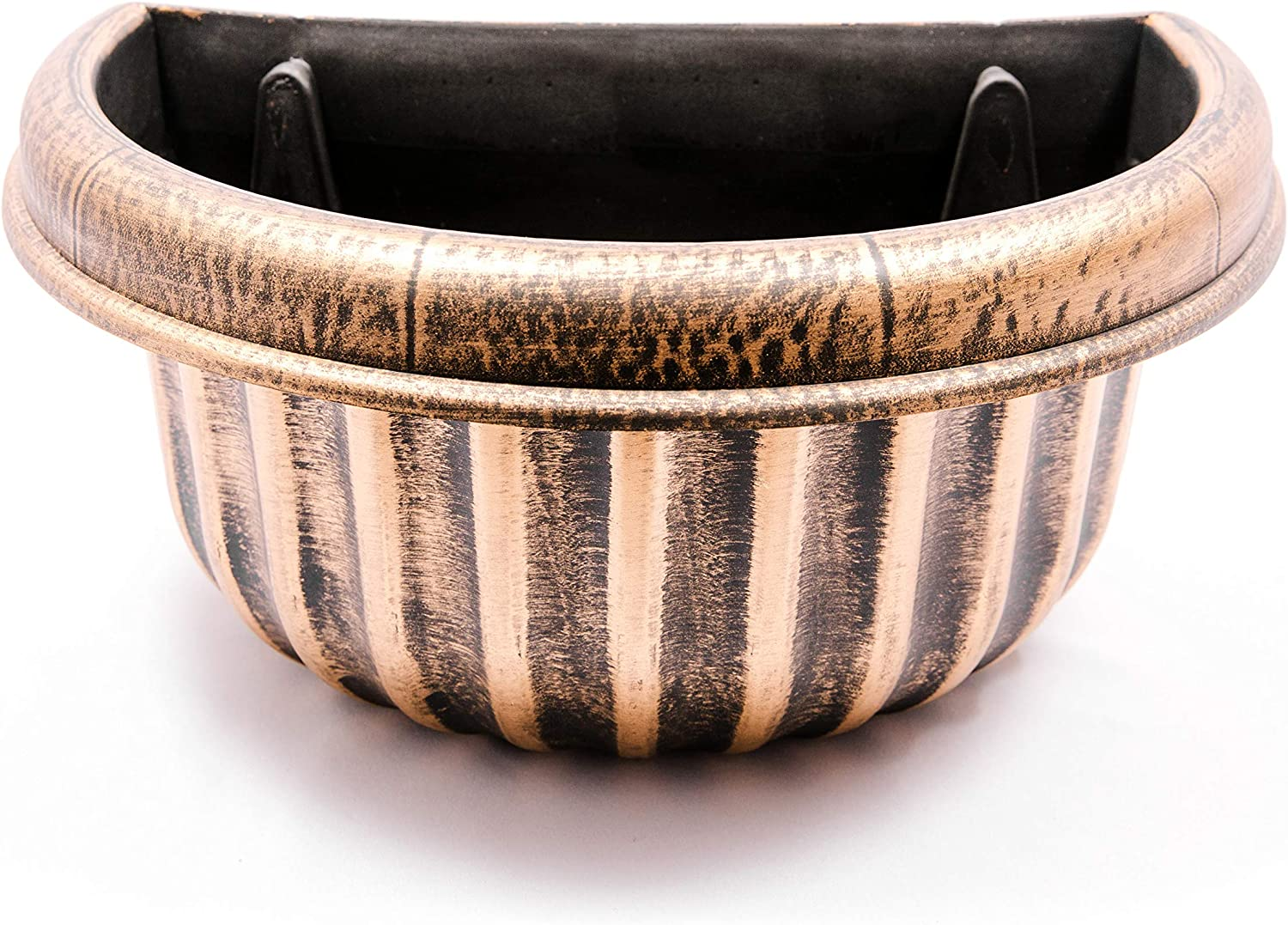 Semicircle Combo Base/Wall Planter Rustic French Country Look Plastic Planter for Indoor, Outdoor, Garden, Patio, Office Ornaments, Home Decor, Long Lasting, Lightweight (Wall 14